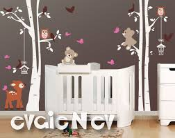 Wall Decals For Baby Nursery Baby Wall Stickers Deer Teddy Bears Birds And Trees Wall