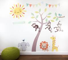 Jungle Animals Wall Decor Stickers Wall Murals Youll Love - Animal wall stickers for kids rooms