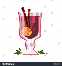 wine vector gluhwein mulled wine vector illustration stock vector 527252929