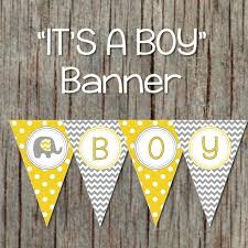 yellow and grey baby shower decorations yellow grey baby shower banner by bumpandbeyonddesigns on zibbet