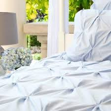 Light Blue And White Comforter Cotton Knit Pure Color Light Blue Duvet Cover Comforter Setslight