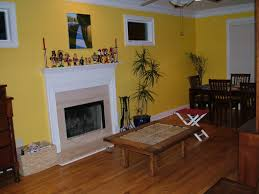 Yellow Accent Wall Living Room Yellow Living Room Decorations Nice Yellow Geometric