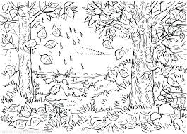 coloring pages of autumn coloring pages fall dudik me