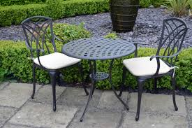 Square Bistro Chair Cushions Decor Tips Attractive Black Aluminum Patio Furniture Sets With