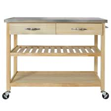 stainless kitchen island best choice products wood mobile kitchen island utility cart w