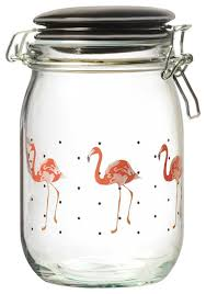 amici home paradise flamingo canister tropical kitchen