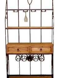 wrought iron wine and bakers rack great western furniture company