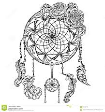 catcher with ornament and roses stock vector