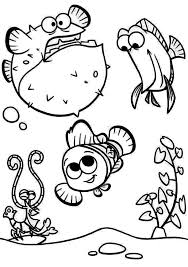 fish coloring pages clown fish coloring bored puffer fish