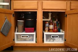 kitchen sink cabinet storage ideas organizing the cabinet the kitchen sink lansdowne