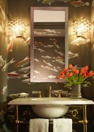 Powder Room Wallpaper by Floral Decorating Ideas Insect Decor De Gournay Wallpaper