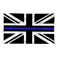 Thin Blue Line Flag United Kingdom Thin Blue Line Flag 3 X 5 Foot Flag With Grommets