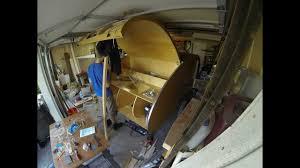 denizen teardrop trailer build galley lights struts cabin