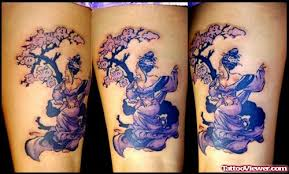 colored geisha with tree thigh viewer com