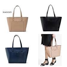 Mango Tote mango saffiano effect tote bag fesyen wanita di carousell