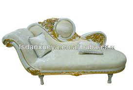 High End Dubai Purple Leather Wood Carved Chaise LoungeOne Person - One person sofa