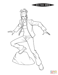 martha jones from doctor who coloring page free printable