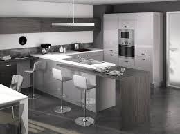 deco cuisine grise et cuisine gris fonce