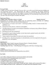 cover letter for cv quantity surveyor functional resume example