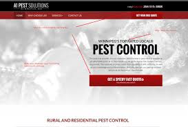 website homepage design pest control marketing case study how design increases