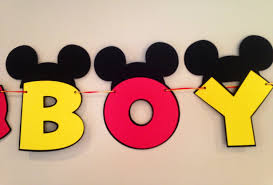 mickey mouse baby shower it s a boy mickey mouse baby shower banner mickey mouse