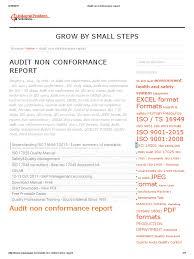 non conformance report template audit non conformance report audit iso 9000