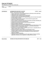 Compliance Analyst Resume Sample by Information Security Analyst Resume Sample Velvet Jobs