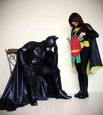 Batman Batgirl Halloween Costumes Couple Announces U0027re Expecting U201ca Sidekick U201d Batman