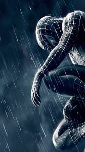 spiderman 3 black blue android wallpaper free download