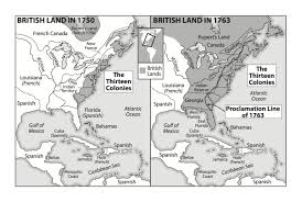 Thirteen Colonies Blank Map by Historical Maps By Chapter