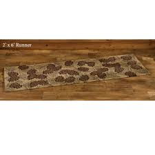 2 X 6 Runner Rugs Walk In The Woods Pine Cone Hooked Rugs