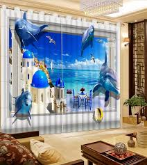 Cool Curtains Fashion Cool Underward World 3d Curtain Living Room Lifelike