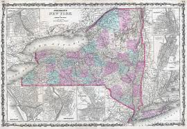 New York State County Map by Large Detailed Old Administrative Map Of New York State With Towns
