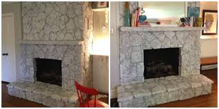 fireplace awesome painted stone fireplace home design great