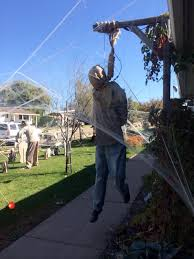 harmless halloween fun or offensive display in utah yard