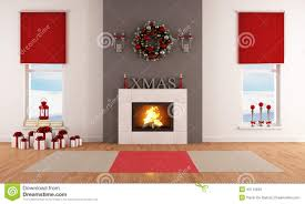 fireplace clipart christmas living room pencil and in color