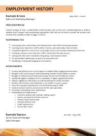 Employment History Example Resume Truck Driver Sample Resume For Your Job Application