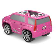 barbie cars with back seats fisher price power wheels barbie cadillac escalade mattel toys