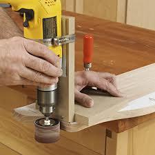 portable drum sander jig woodworking plan from wood magazine