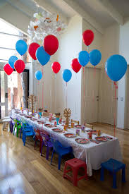 interior design awesome train themed birthday party decorations