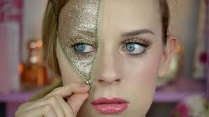 glitter zipper makeup for halloween collab with beauty and a