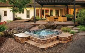 Backyard Spa Design Creative Spa Designs Premier Inground Spa - Backyard spa designs