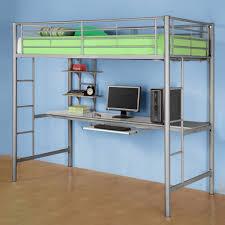 bedroom comfortable sleeping space with loft bed desk restaurant