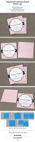 Invitation Cards Size 159 Best Mockups Cards Invites Images On Pinterest Mockup