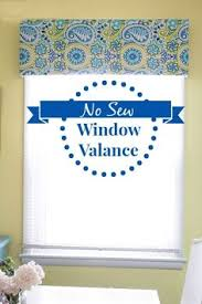 Making A Valance Window Treatment Easy No Sew Valance U0026 4 More No Sew Projects Valance Window And