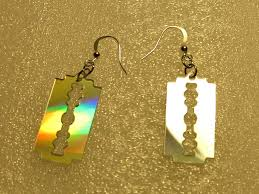 cd earrings inventorartist razor blade earrings from cd