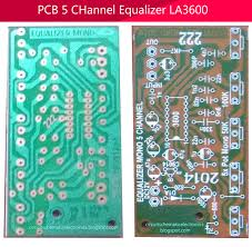 pcb design 5 channel equalizer using ic la3600 uklady pinterest