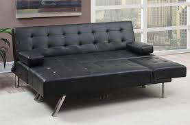 black leather sleeper sofa furniture mid century modern black leather tufted sectional sleeper