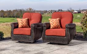 breckenridge piece patio furniture seating set two swivel rockers