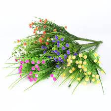 online get cheap wedding craft store aliexpress com alibaba group plastic multi color floral for household store decoration wedding party decor artificial stinkgrass flower craft home decor new